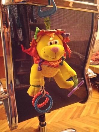 Развивающиеся игрушка лев. Можно использовать как подвеску для кроватки или коля. Киев, Киевская область. фото 3