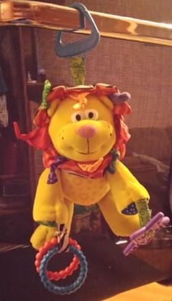 Развивающиеся игрушка лев. Можно использовать как подвеску для кроватки или коля. Киев, Киевская область. фото 2