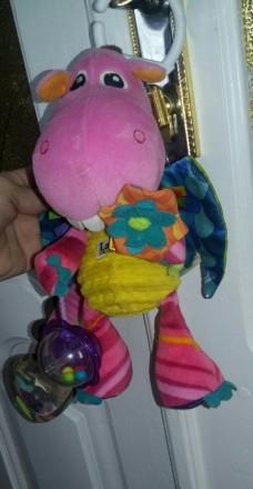 """Мягкая игрушка-подвеска Lamaze """"Дракоша"""" станет любимой игрушкой крохи. Изготовл. Жмеринка, Вінницька область. фото 4"""