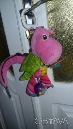 """Мягкая игрушка-подвеска Lamaze """"Дракоша"""" станет любимой игрушкой крохи. Изготовл. Жмеринка, Вінницька область. фото 1"""