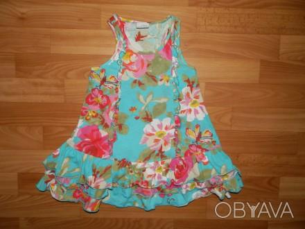 Продам нашу тунику, топ Next р.116 ( начинать носить можно со 110 как платье) б/. Южный, Одесская область. фото 1
