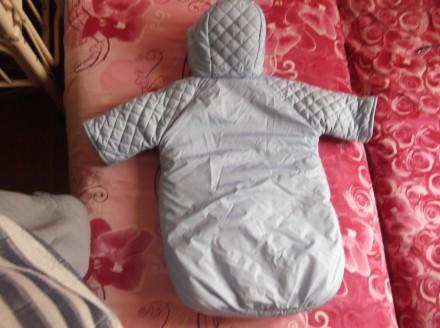 Детский теплый конверт в отличном состоянии. Для зимы отличный вариант, малышу т. Кривой Рог, Днепропетровская область. фото 3