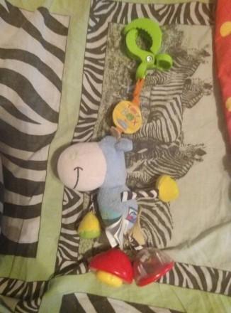Детский коврик—165+игрушки.После одного ребенка.подвеска#1:обезьянка—65грн.#2Осл. Бориспіль, Київська область. фото 5