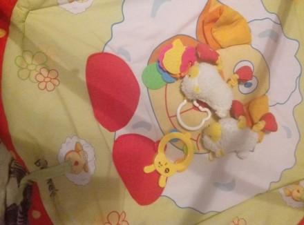 Детский коврик—165+игрушки.После одного ребенка.подвеска#1:обезьянка—65грн.#2Осл. Бориспіль, Київська область. фото 3