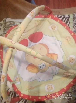 Детский коврик—165+игрушки.После одного ребенка.подвеска#1:обезьянка—65грн.#2Осл. Бориспіль, Київська область. фото 1