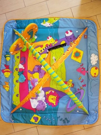 """Развивающий коврик с дугами Tini Love, """"Зоосад"""", подходит для самых маленьких (о. Киев, Киевская область. фото 2"""