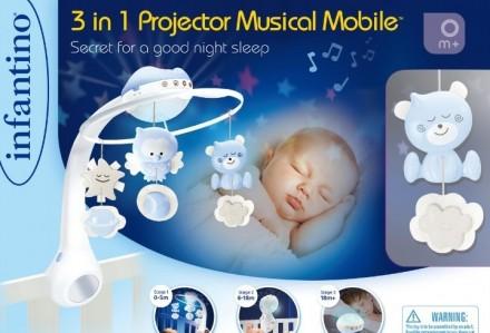 Мобиль 3в1 с проектором, лучшая игрушка для ребёнка с 0 до 3 лет, состояние идеа. Запоріжжя, Запорізька область. фото 5