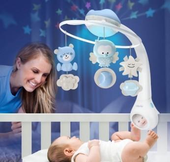 Мобиль 3в1 с проектором, лучшая игрушка для ребёнка с 0 до 3 лет, состояние идеа. Запоріжжя, Запорізька область. фото 2