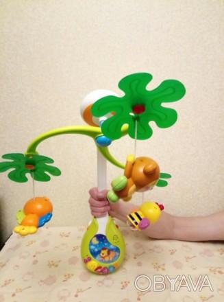 Мобиль в отличном состоянии (после одного малыша). Музыкальный мобиль Веселый ос. Киев, Киевская область. фото 1