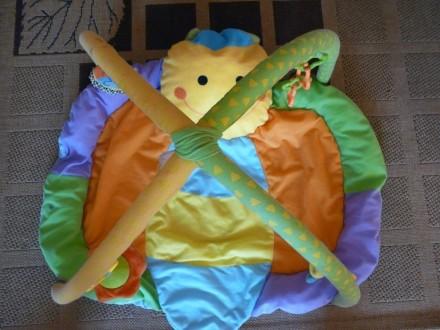 Коврик в виде бабочки для развития малышей, в комплекте погремушка, цветные коле. Суми, Сумська область. фото 4