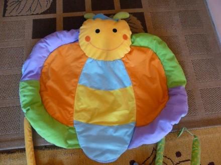 Коврик в виде бабочки для развития малышей, в комплекте погремушка, цветные коле. Суми, Сумська область. фото 5