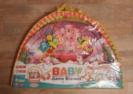 Продам яркий развивающий коврик, каждая игрушка имеет свое звучание, игрушки мен. Кременчук, Полтавська область. фото 3