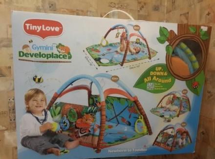 Продам детский развивающий коврик Tiny Love Лесной Домик. Двусторонний коврик. Р. Одесса, Одесская область. фото 2