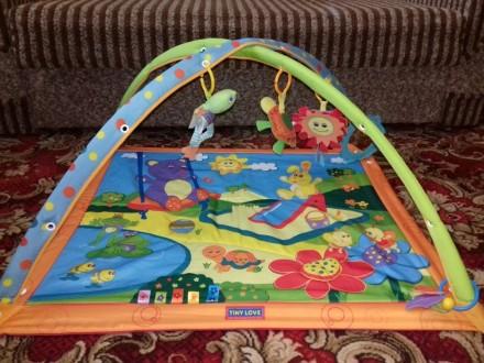 Развивающий коврик в отличном состоянии.Все игрушки на месте,все исправно.Имеетс. Акимовка, Запорожская область. фото 3