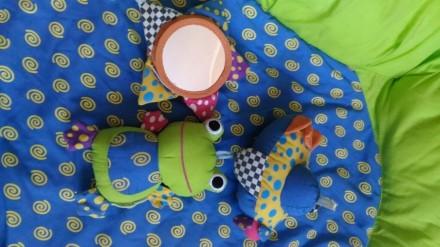 Мягкий коврик-манеж для младенца. Полностью разбирается и компактно складывается. Киев, Киевская область. фото 5