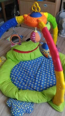 Мягкий коврик-манеж для младенца. Полностью разбирается и компактно складывается. Киев, Киевская область. фото 2
