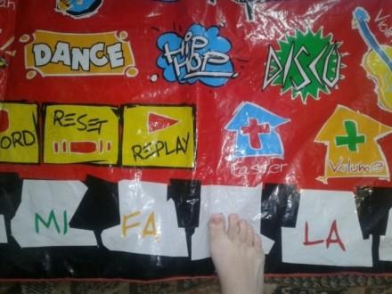 Большой детский музыкальный коврик. Танцевать (нажимать на кнопки) нужно ножками. Черкаси, Черкаська область. фото 6