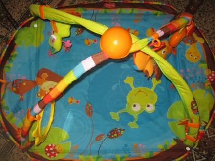 Развивающий коврик для детей от рождения,с шуршалками, музыкальным элементом, гр. Херсон, Херсонська область. фото 3
