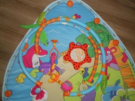Коврик в хорошем состоянии. Из комплекта игрушек остались фламинго, морской краб. Маріуполь, Донецька область. фото 6