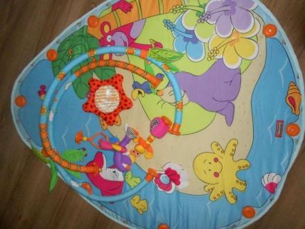Коврик в хорошем состоянии. Из комплекта игрушек остались фламинго, морской краб. Маріуполь, Донецька область. фото 2