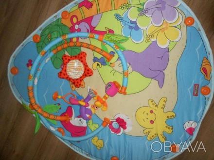 Коврик в хорошем состоянии. Из комплекта игрушек остались фламинго, морской краб. Маріуполь, Донецька область. фото 1