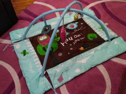 """Развивающий коврик LUDI """"Сова"""". Отлично подойдет для новорожденных. Изготовлен и. Запорожье, Запорожская область. фото 2"""