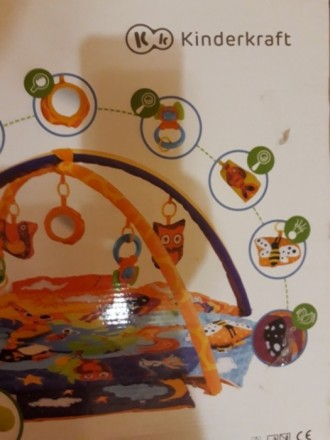 """Развивающий коврик для младенца ТМ """"Kinderkraft"""". Состояние отличное.. Кривой Рог, Днепропетровская область. фото 6"""