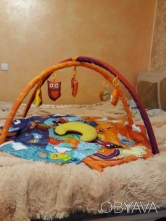 """Развивающий коврик для младенца ТМ """"Kinderkraft"""". Состояние отличное.. Кривой Рог, Днепропетровская область. фото 1"""