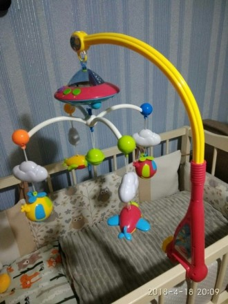 Музыкальный мобиль на детскую кроватку с проэктором звездного неба,интересные ме. Киев, Киевская область. фото 3