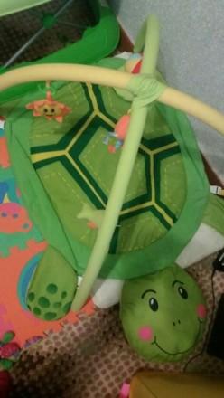 Продам развивающий коврик черепашка, состояние отличное,игрушки съемный, можно в. Берислав, Херсонская область. фото 2