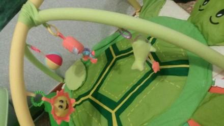 Продам развивающий коврик черепашка, состояние отличное,игрушки съемный, можно в. Берислав, Херсонская область. фото 3