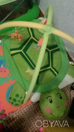 Продам развивающий коврик черепашка, состояние отличное,игрушки съемный, можно в. Берислав, Херсонская область. фото 1