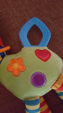 Замечательная игрушка-погремушка на коляску, в отличном состоянии. Ножки и ушки . Днепр, Днепропетровская область. фото 3