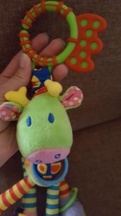 Замечательная игрушка-погремушка на коляску, в отличном состоянии. Ножки и ушки . Днепр, Днепропетровская область. фото 5