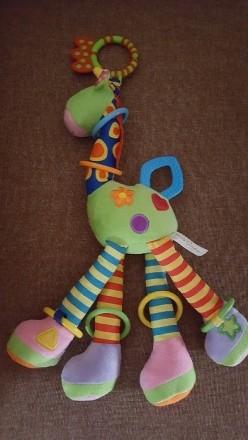 Замечательная игрушка-погремушка на коляску, в отличном состоянии. Ножки и ушки . Днепр, Днепропетровская область. фото 2