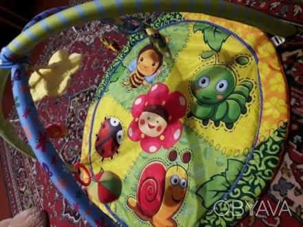Развивающий коврик для малышей, всё в комплектации. Без дефектов. Упаковка в нал. Київ, Київська область. фото 1