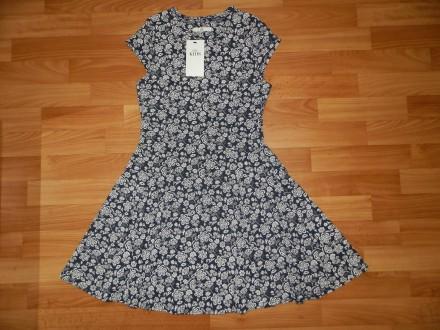 Красивое трикотажное платье Marks&Spencer р.152. Южний. фото 1