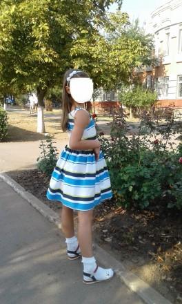 Продам стильное нарядное платье Next р.134 б/у в отличном состоянии. Платье полн. Южный, Одесская область. фото 6
