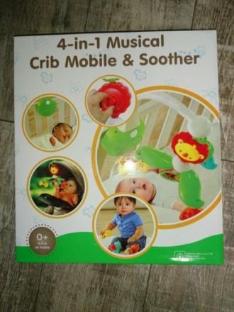 Мобиль детский для новородженных 0-5 мес. Отличный подарок! Можно использовать в. Киев, Киевская область. фото 4