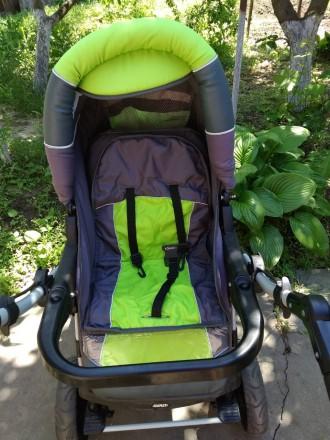 Детская коляска,зима -лето,в хорошем состоянииЦвет яркий не выгоревший.Колеса не. Запоріжжя, Запорізька область. фото 3