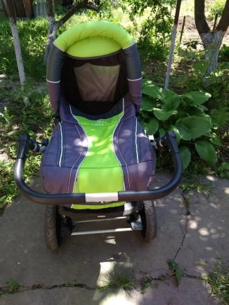 Детская коляска,зима -лето,в хорошем состоянииЦвет яркий не выгоревший.Колеса не. Запоріжжя, Запорізька область. фото 5