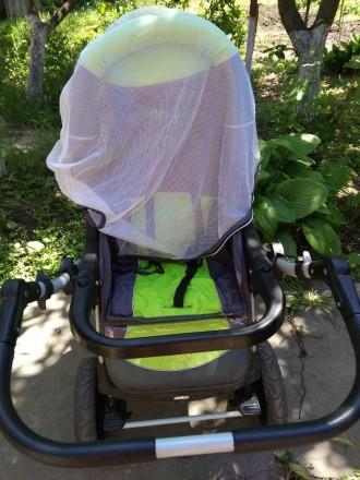 Детская коляска,зима -лето,в хорошем состоянииЦвет яркий не выгоревший.Колеса не. Запоріжжя, Запорізька область. фото 6
