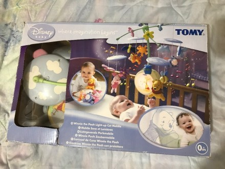 Ночник-мобиль Томи,с разными мелодиями ,состояние нового,есть коробок,ребёнок иг. Краматорск, Донецкая область. фото 2