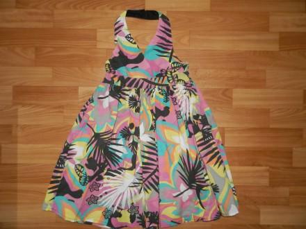 Оригинальное платье с открытой спиной Miss E-vie р. 8-9 лет 128-134см. Южный. фото 1