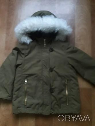Куртка парка в отличном состоянии. Мех внутри и на капюшоне отстегивается.. Кременчуг, Полтавская область. фото 1