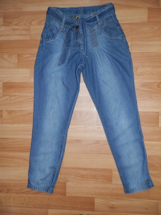 Лёгкие летние джинсы George на р. 134-140. Южный. фото 1