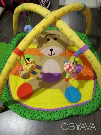 Развивающий коврик для малышей с шелестящими лапками,и симпатичными игрушками.В . Лубны, Полтавская область. фото 1