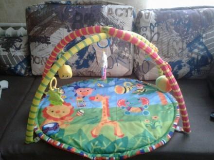 Продам развивающий коврик, ребенок игрался 2 месяца. Покупали новый, есть упаков. Запоріжжя, Запорізька область. фото 3