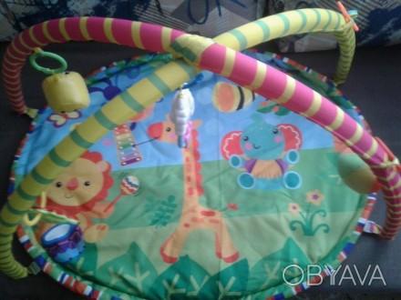 Продам развивающий коврик, ребенок игрался 2 месяца. Покупали новый, есть упаков. Запоріжжя, Запорізька область. фото 1