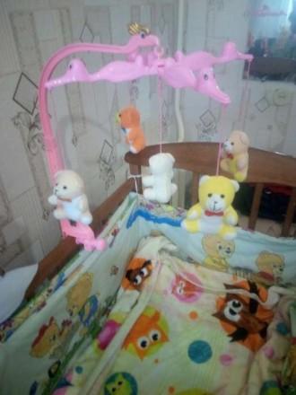 Продам мобиль в детскую кроватку. Не работает музыка но можно сделать там слизан. Овидиополь, Одесская область. фото 3